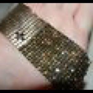 Servane Gaxotte Rhinestone Mesh Bracelet
